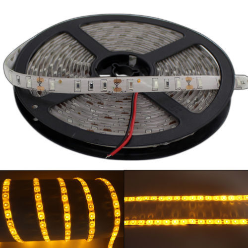 LED Streifen / Strip 5 Meter IP65 wasserfest - Gelb-Orange (Amber)