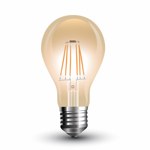LED Bulb - 4W Filament E27 A60 extra-warmweiss, amber gold