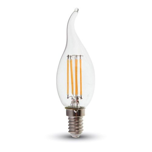 LED Bulb - 4W Filament E14 Kerze warmweiss, Windstoß