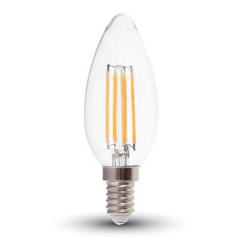 LED Bulb - 4W Filament E14 Kerze warmweiss