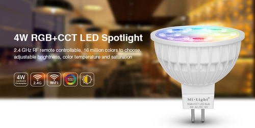 4W MR16 RGB+CCT LED Spotlight