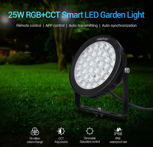 25W RGB+CCT Smart LED Gartenstrahler