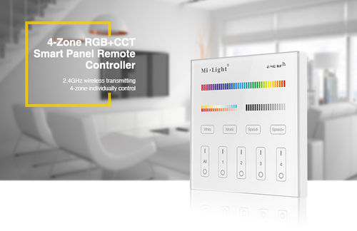4-Zone RGB+CCT Smart Panel Remote Controller